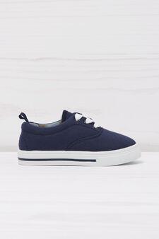 Sneakers con suola a contrasto, Blu navy, hi-res