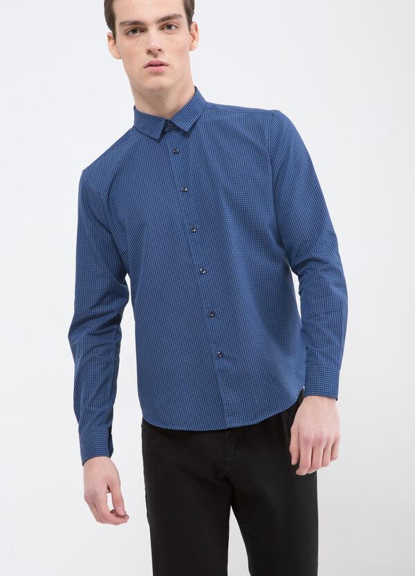Check cotton blend shirt | OVS