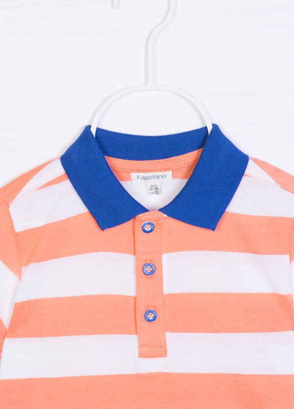 Patterned polo shirt in 100% cotton | OVS