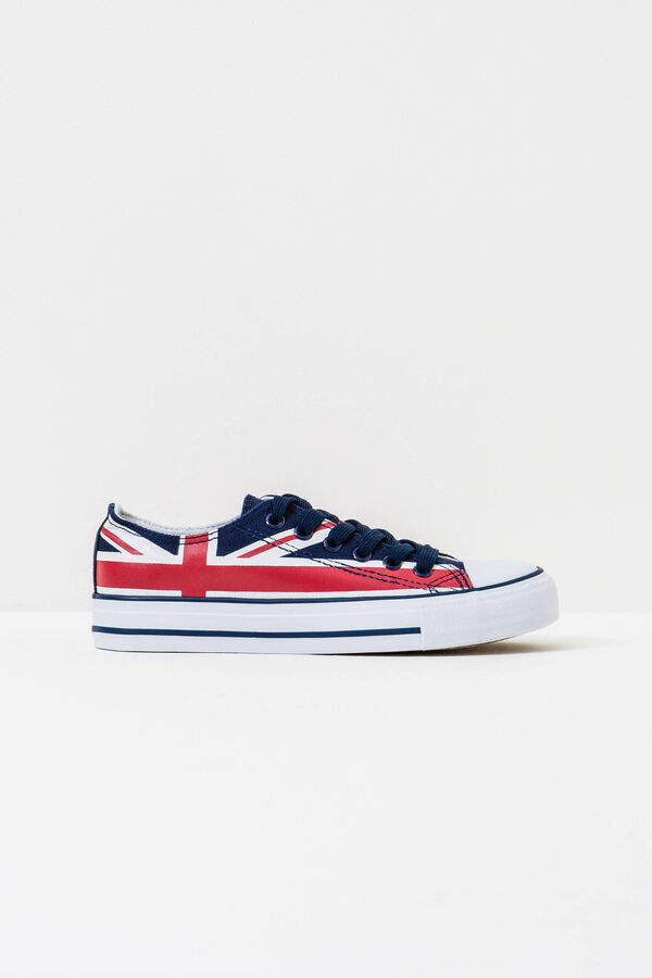 Patterned sneakers with flag design | OVS