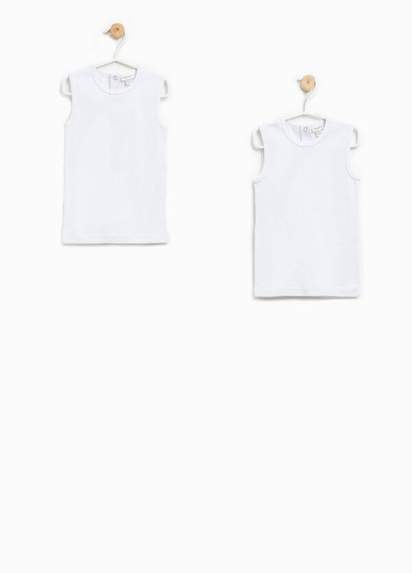 Two-pack solid colour vest tops | OVS