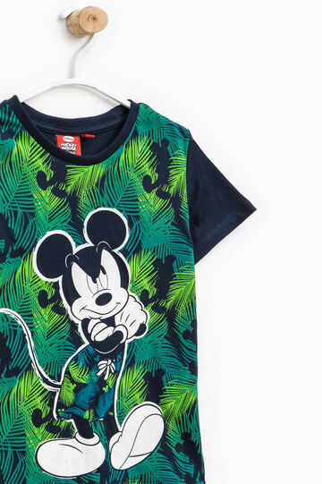 T-shirt with Mickey Mouse maxi print, Blue, hi-res