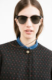 Stretch jacquard jacket with polka dot pattern, Black/Blue, hi-res