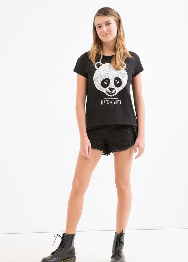 T-shirt puro cotone con patch Teen | OVS