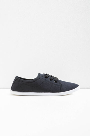 Sneakers with tone-on-tone stitching, Navy Blue, hi-res