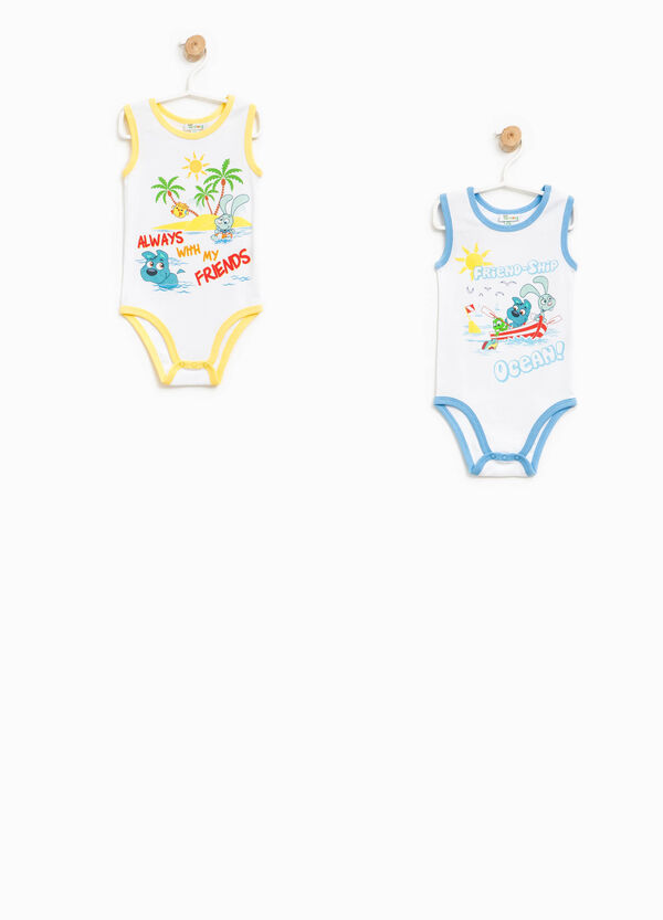 Two-pack sleeveless bodysuits with print | OVS
