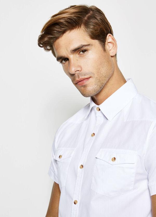 Camicia casual in popeline di cotone | OVS