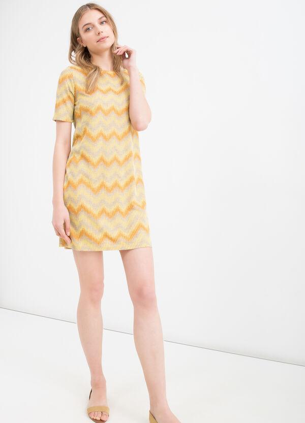 Striped short dress in viscose blend | OVS