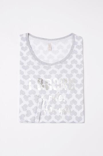 Maglia pigiama puro cotone a cuori