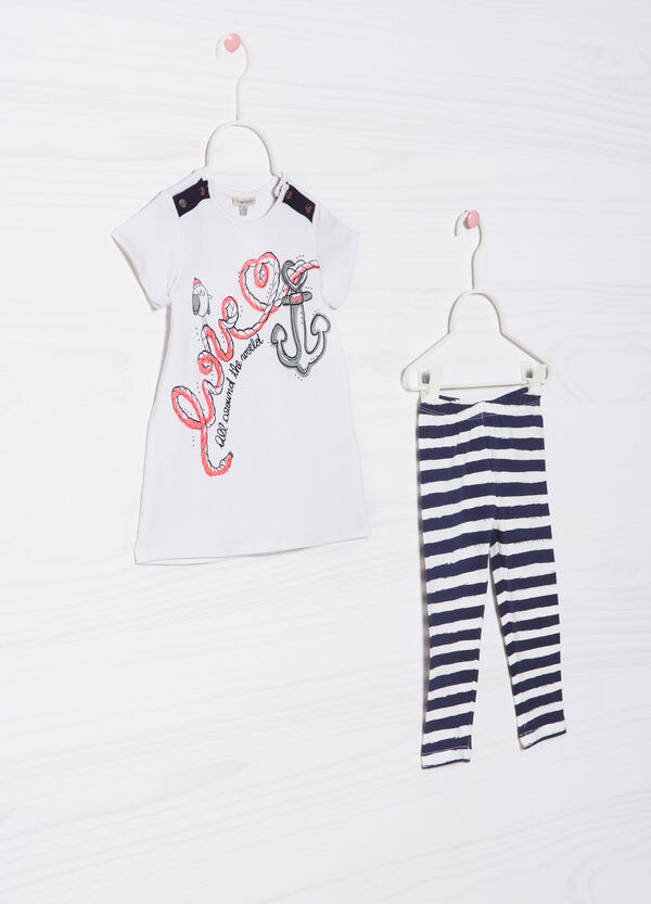 Cotton outfit consisting of T-shirt and leggings | OVS