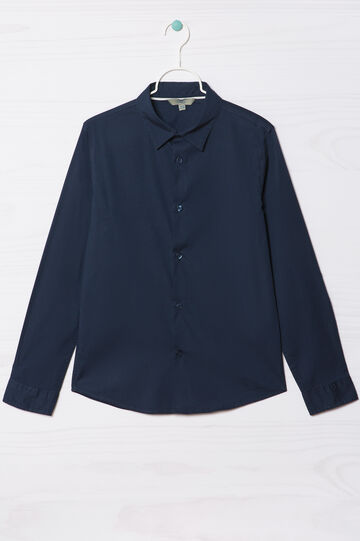 Camicia puro cotone, Blu, hi-res