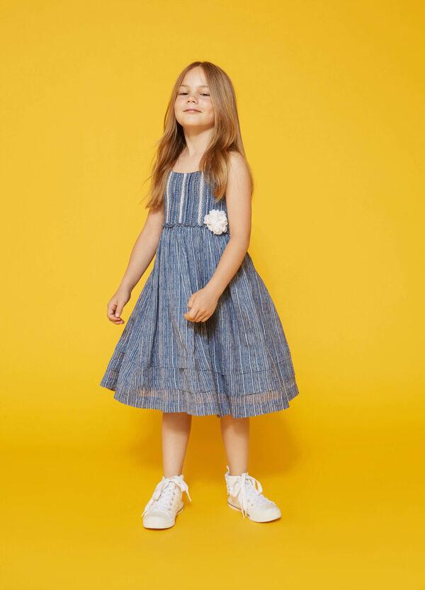 Striped patterned sleeveless dress | OVS