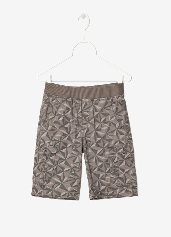 Triangle print bermuda shorts | OVS