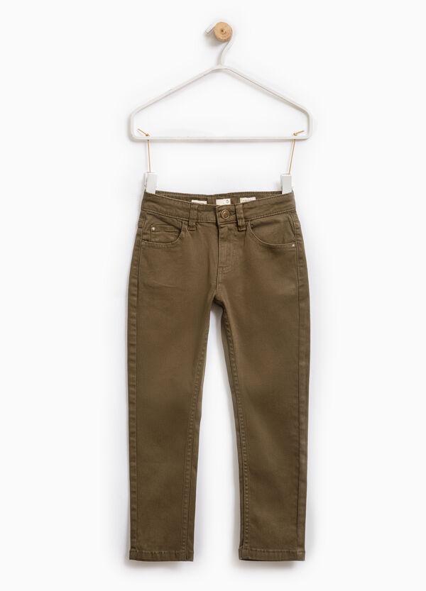 Pantaloni chino tinta unita stretch | OVS