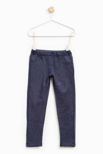 Medidas de lunares de algodón, Azul, hi-res