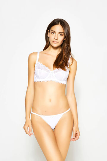 Tanga with lace back and bow