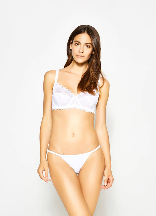 Tanga briefs with lace back and bow | OVS