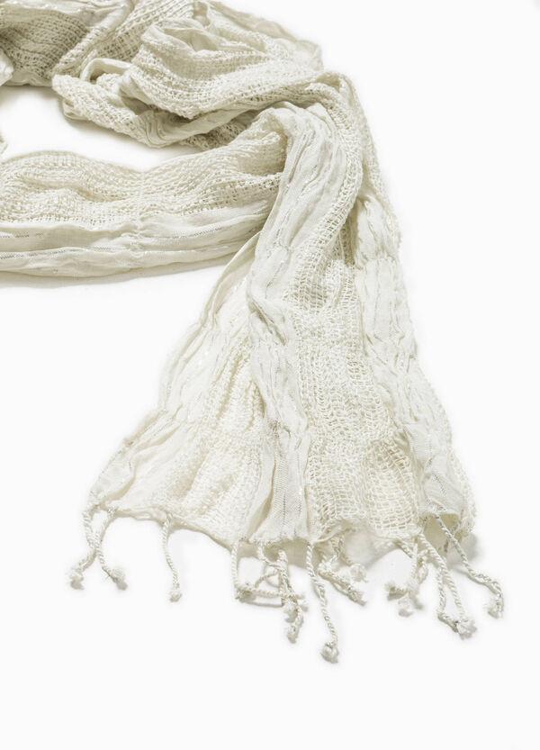 Openwork scarf with lurex | OVS