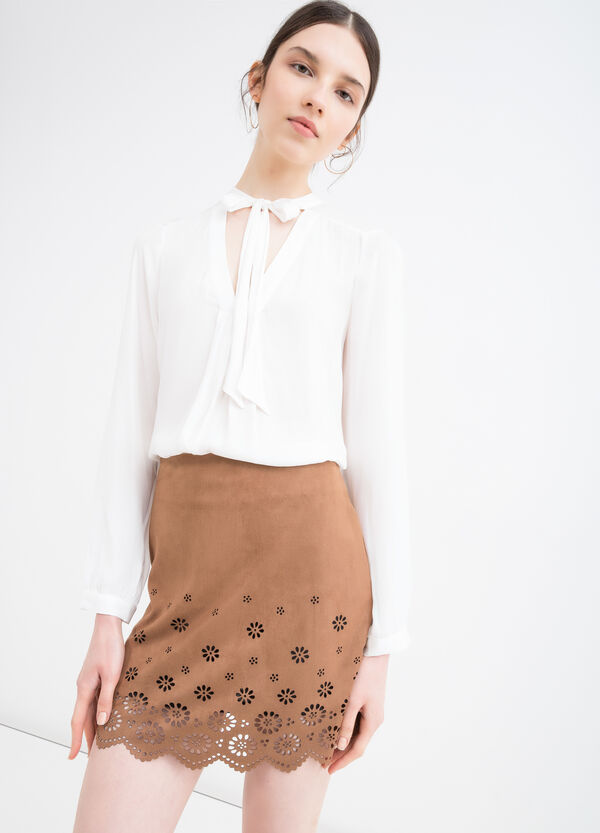 Short stretch suede skirt | OVS