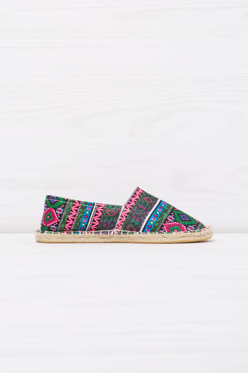 Espadrilles with multi-coloured ethnic pattern., Multicolour, hi-res