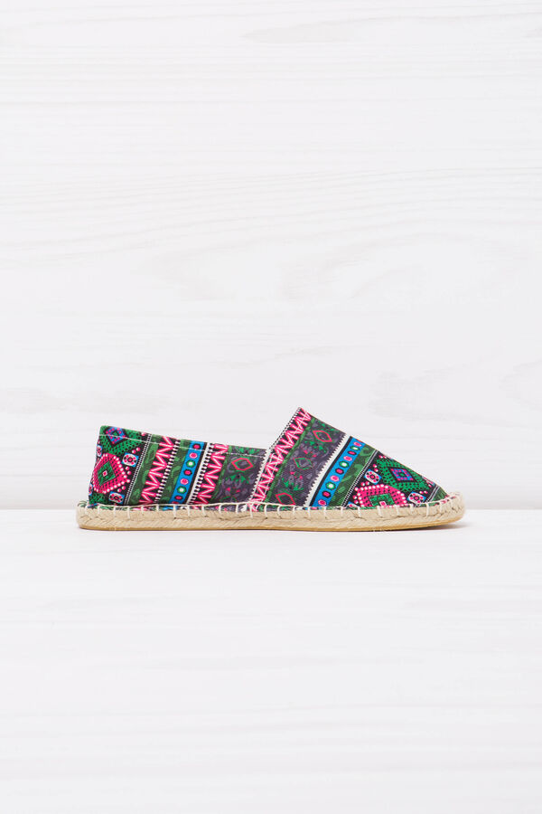 Espadrilles with multi-coloured ethnic pattern. | OVS