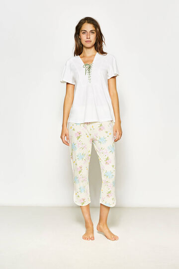 Top and trousers floral pyjama set