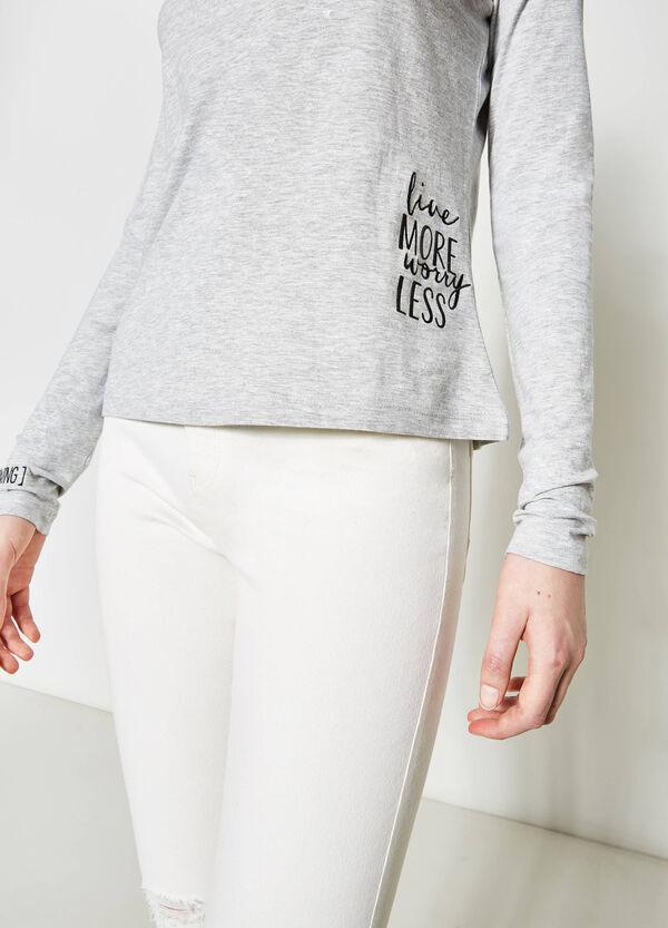 Camiseta de algodón con motivo de texto | OVS
