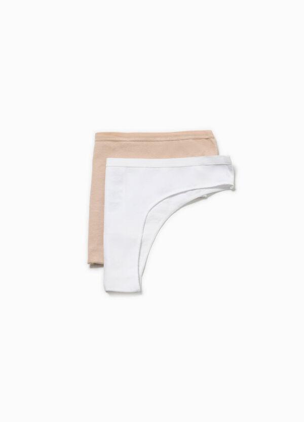 Two-pack stretch cotton Brazilian-cut briefs | OVS
