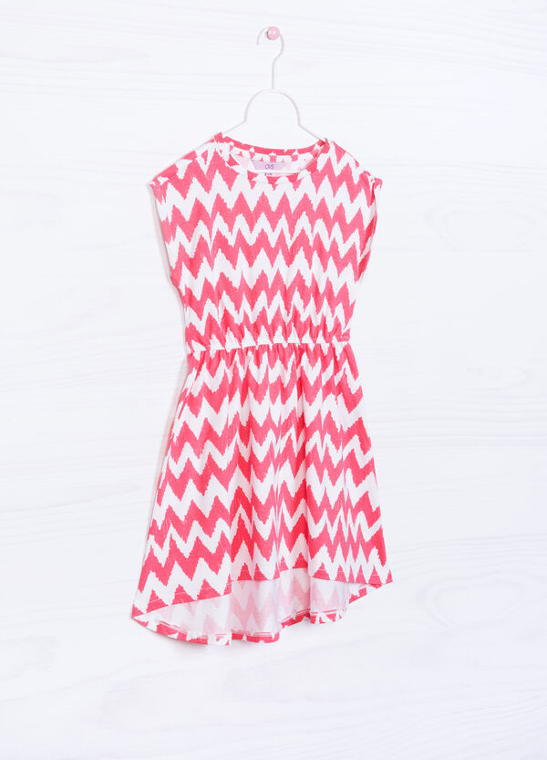 Patterned dress in 100% cotton | OVS