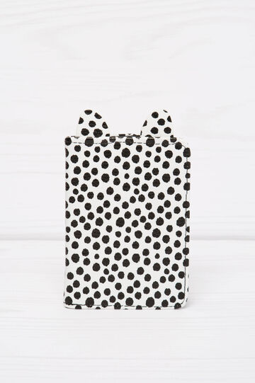 Polka dot pattern briefcase, Black/White, hi-res