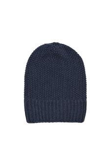 Cappello a cuffia tricot, Blu melange, hi-res