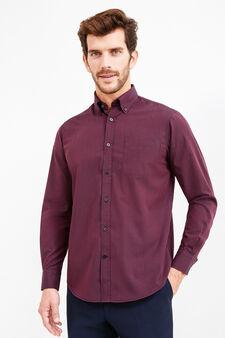 Striped formal shirt with regular fit, Black/Red, hi-res
