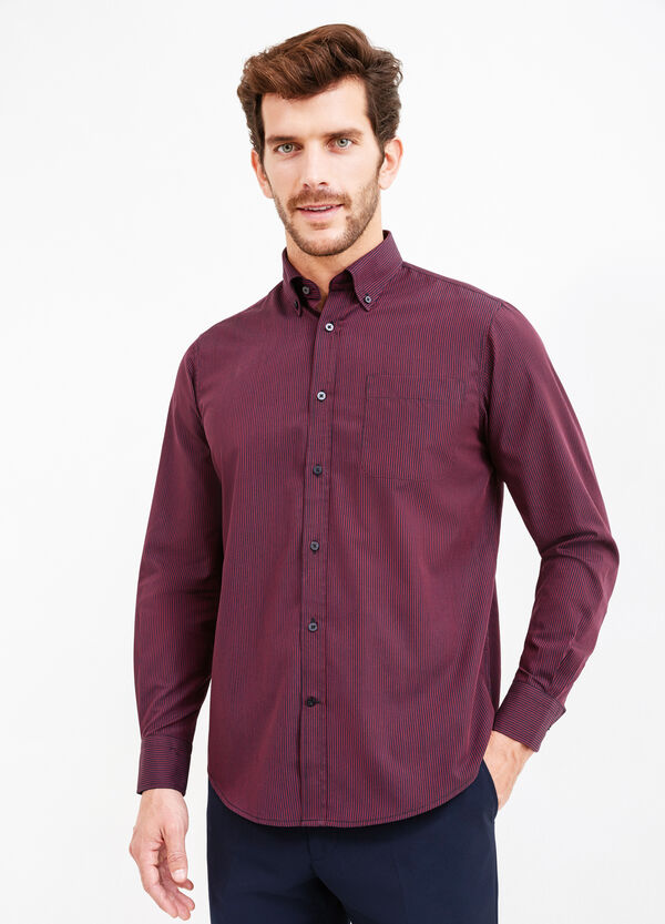 Striped formal shirt with regular fit | OVS