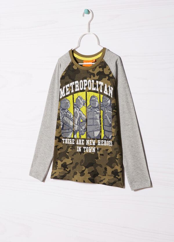 Cotton T-shirt with Teenage Mutant Ninja Turtle print. | OVS