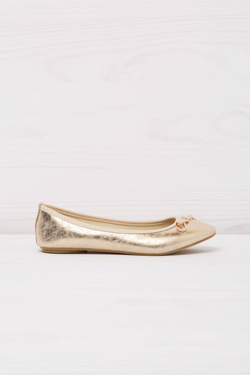 Ballerina flats with rope bow, Golden Yellow, hi-res