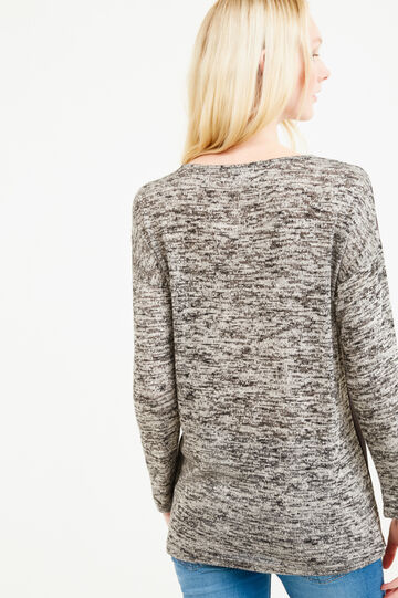 T-shirt with Tinkerbell print and long sleeves, Dark Grey Marl, hi-res