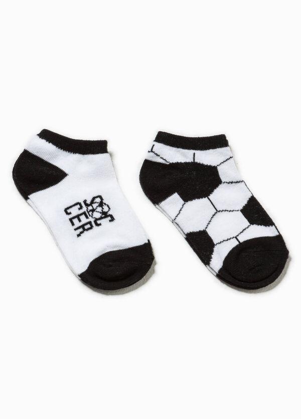 Pack de dos pares de calcetines en color liso y con estampado | OVS