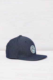 Denim baseball cap, Denim, hi-res