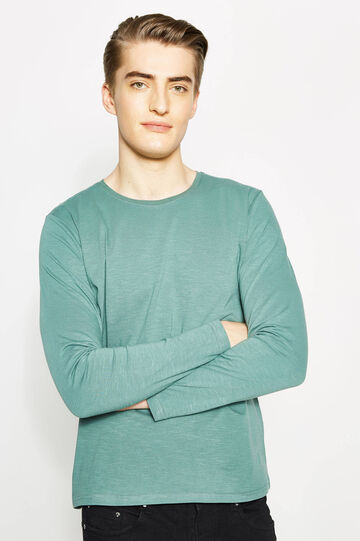Round neck T-shirt with long sleeves, Mint Green, hi-res