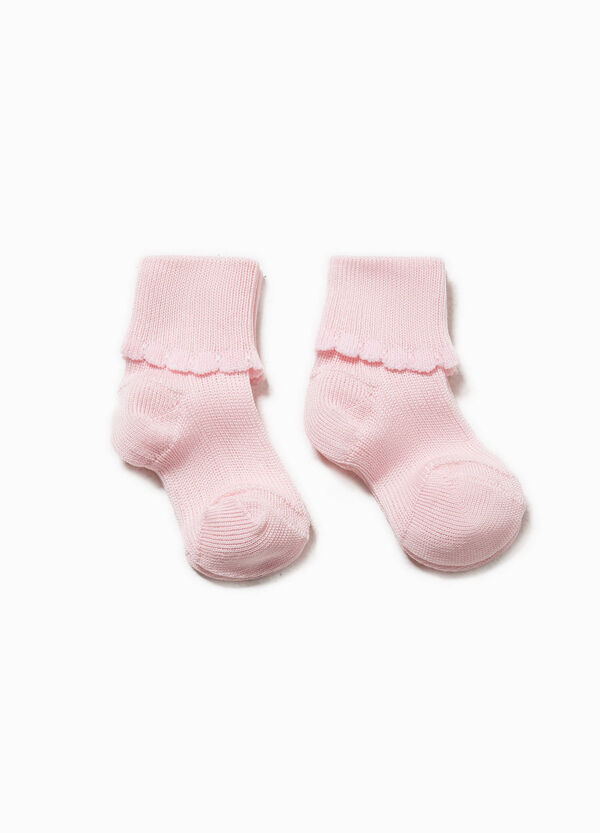 Two-pair pack socks with fold | OVS