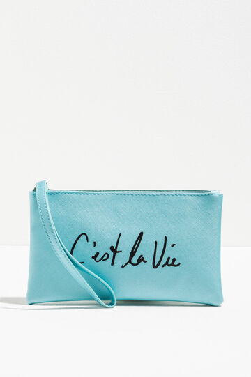 Saffiano-effect pouch with print