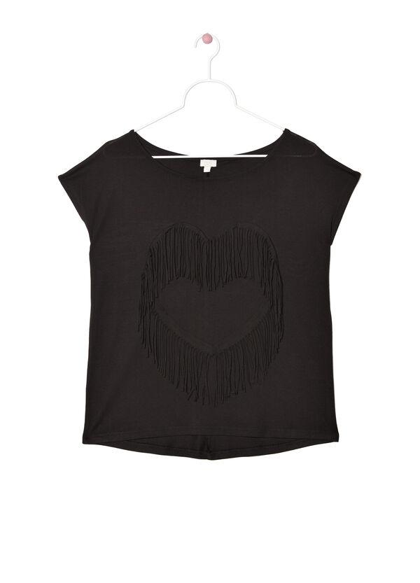 Plain cotton blend T-shirt | OVS