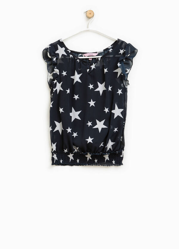 Sleeveless blouse with star pattern | OVS