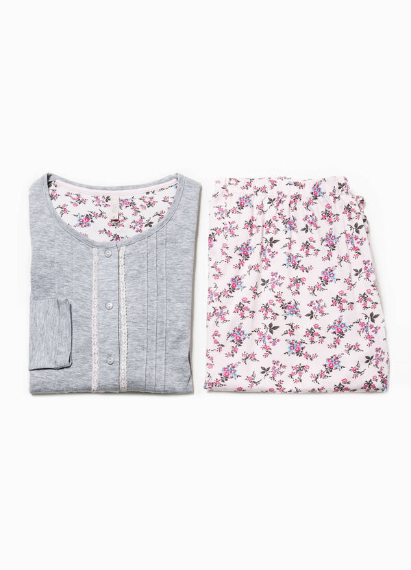 Floral patterned pyjamas with pleating | OVS