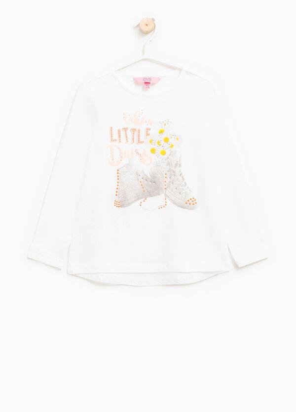 T-shirt in cotone stretch con stampa | OVS