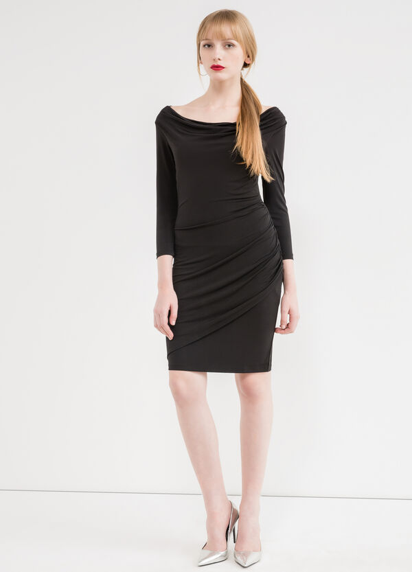 Stretch dress with three-quarter sleeves | OVS