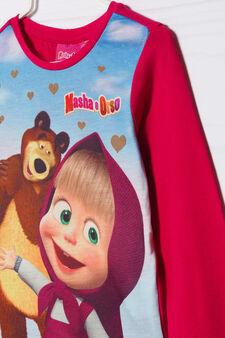 T-shirt cotone stretch Masha&Orso, Rosso ciliegia, hi-res