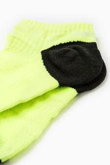 Short sports socks, Yellow, hi-res