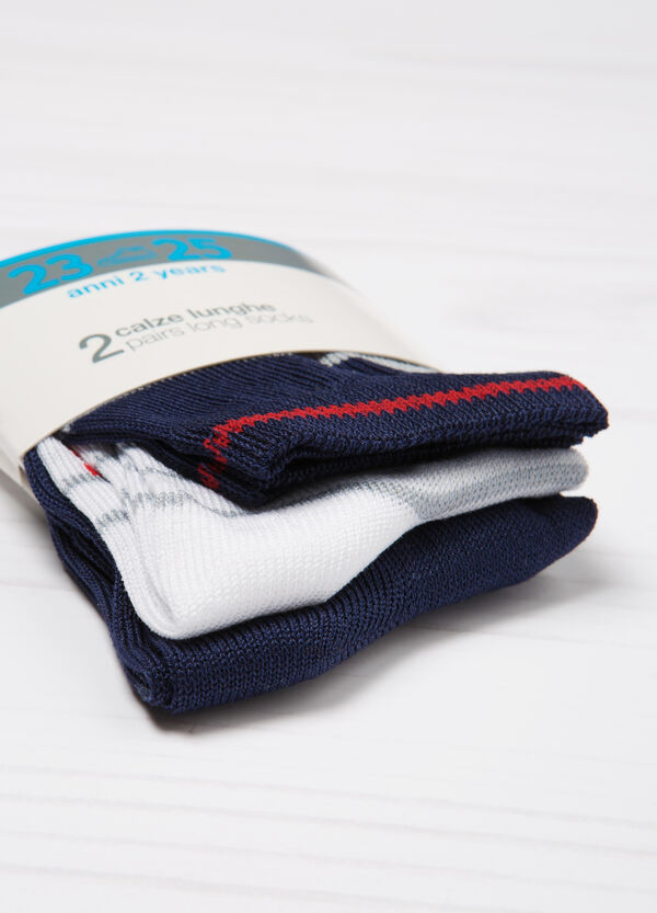 Set due paia di calze lunghe cotone | OVS