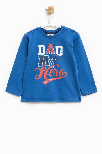 Long-sleeved, printed T-shirt, Cornflower Blue, hi-res